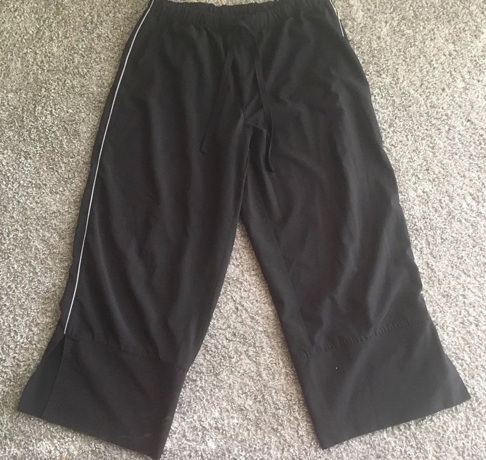 ce91c901b0ba6a Reebok Womens Athletic Fitness Pants Size M Black  fashion  clothing  shoes   accessories  womensclothing  activewear (ebay link)