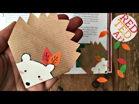 Photo of Easy Hedgehog Bookmark – Autumn DIYs – Stationery – Easy Paper Crafts