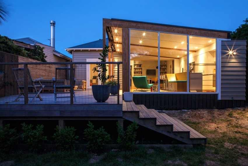 Extension Mobili ~ Glass box extension upgrading bungalow style home in new zealand