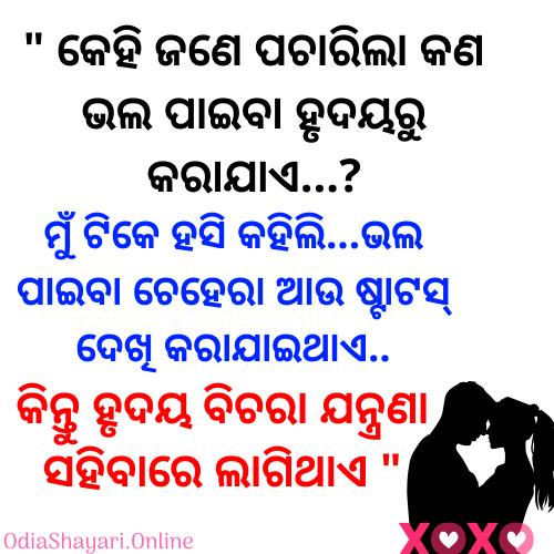 Odia Shayari In 2020 Love Sms Good Morning Quotes Shayari Image