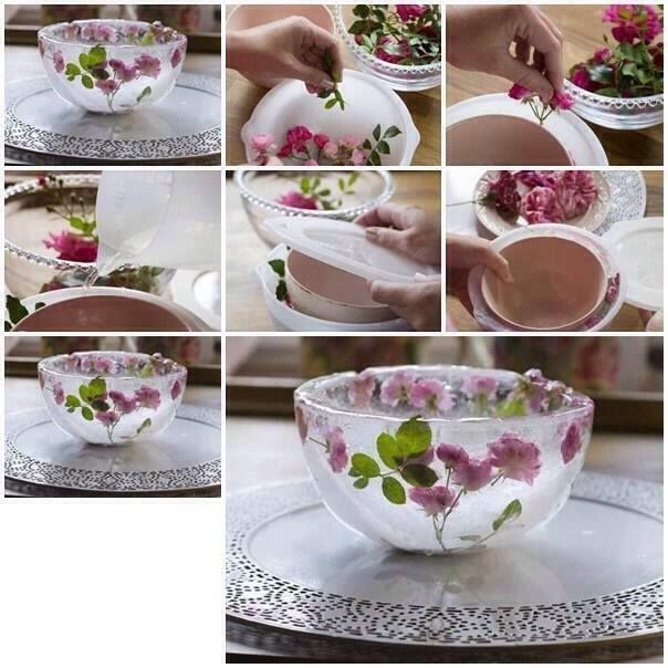 Idees And Solutions: How To Make A Floral Ice Bowl For Ritual Work