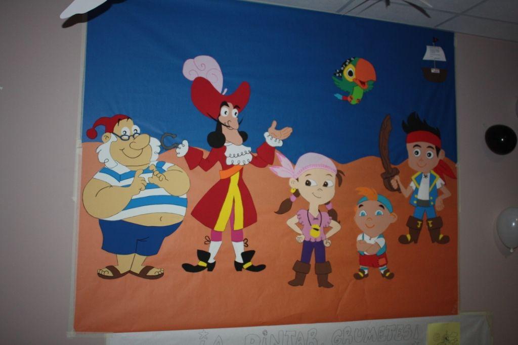 Mural goma eva jake y los piratas de nunca jam s - Mural para cumpleanos ...