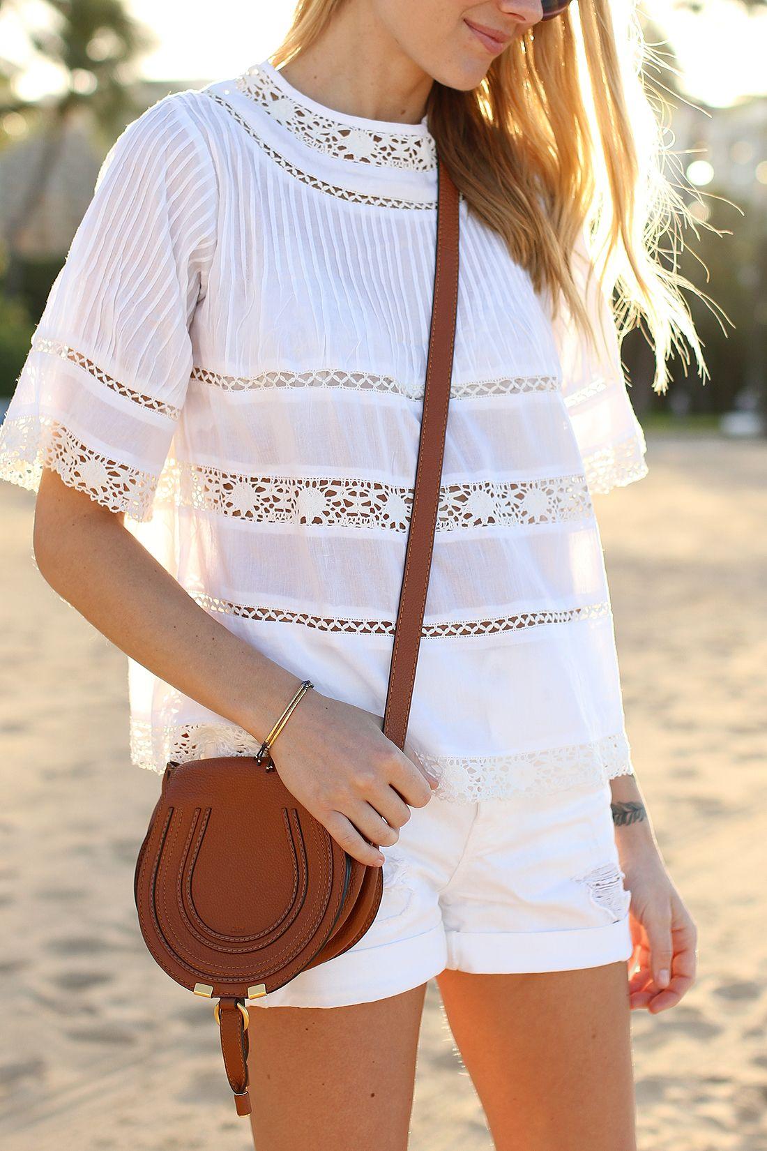 f67ac80753 fashion-jackson-love-sam-white-lace-top-white-denim-shorts -chloe-marcie-small-crossbody