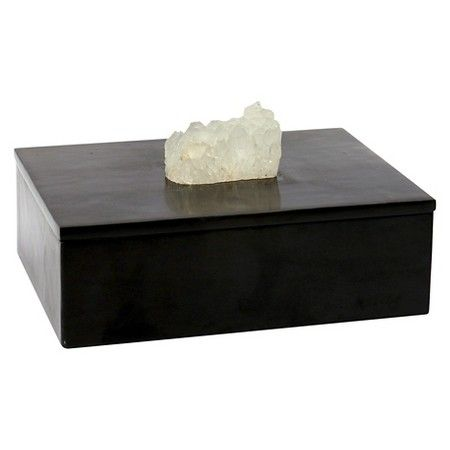 Where To Buy Decorative Boxes Inspiration Decorative Box With Agate Stone Black  Threshold™  Target  To Design Inspiration