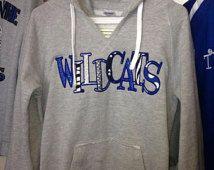 Uk university of kentucky wildcats applique hoodie! school spirit