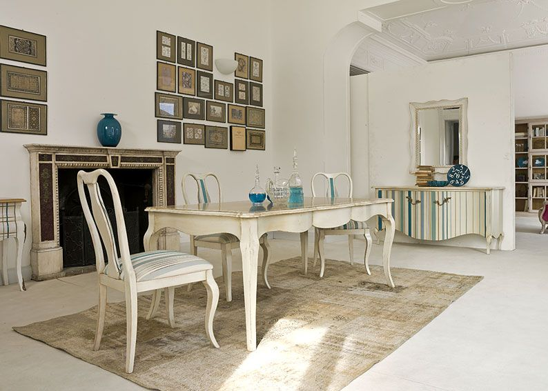 Comedor vintage aston material madera de nogal mesa - Colores para comedores modernos ...