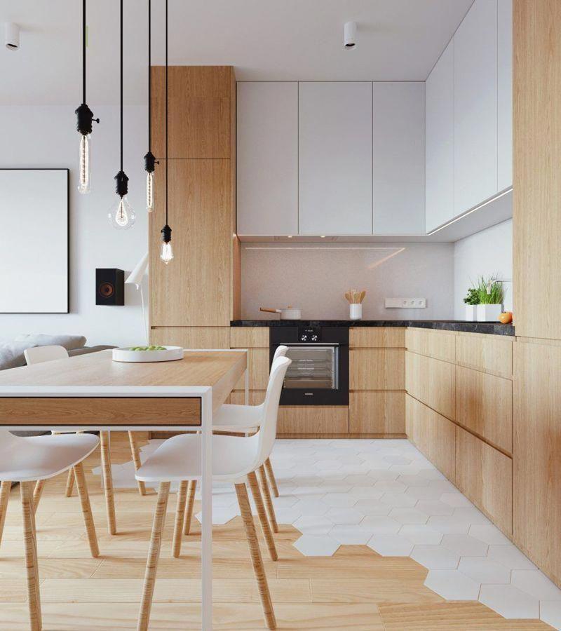 Modern Minimalist Eclectic Kitchen Designs Brass Hardware