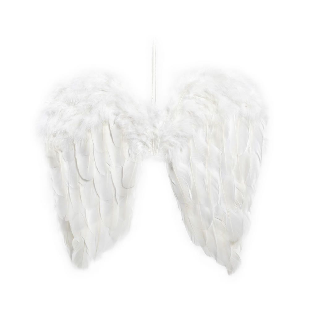 Wilko christmas decoration angel wings white faux fur enchant wilko christmas decoration angel wings white faux solutioingenieria Image collections