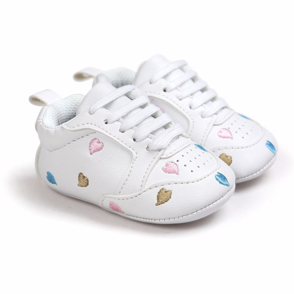 29b213be0c1a0 Click to Buy << Delebao Hot Baby Girl Shoes Multi-Heart Lace-up PU ...
