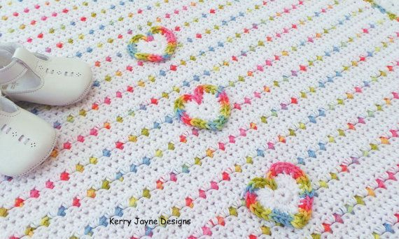 Crochet Baby Blanket Pattern Love U Lots By Kerryjaynedesigns