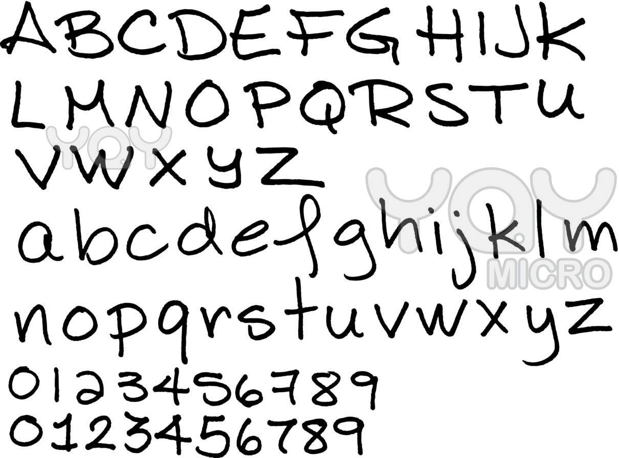 Cute Handwriting Alphabet For Girls Cute handwriting ...