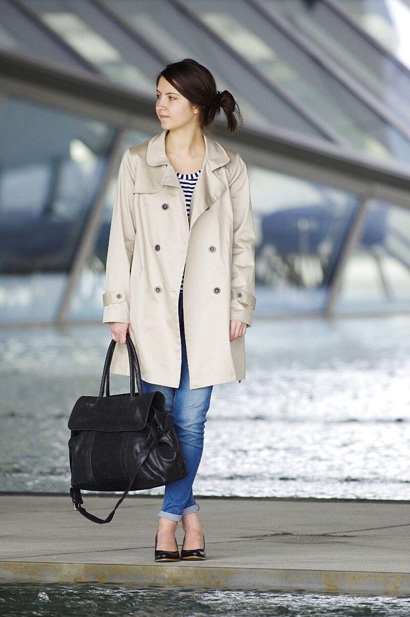 Ivanne s comment coudre un trench coat pour femme couture manteau veste femme pinterest - Comment porter un trench femme ...