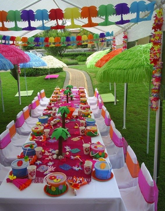 Kids Party Ideas Luau From Purpletrail Tropical Birthday