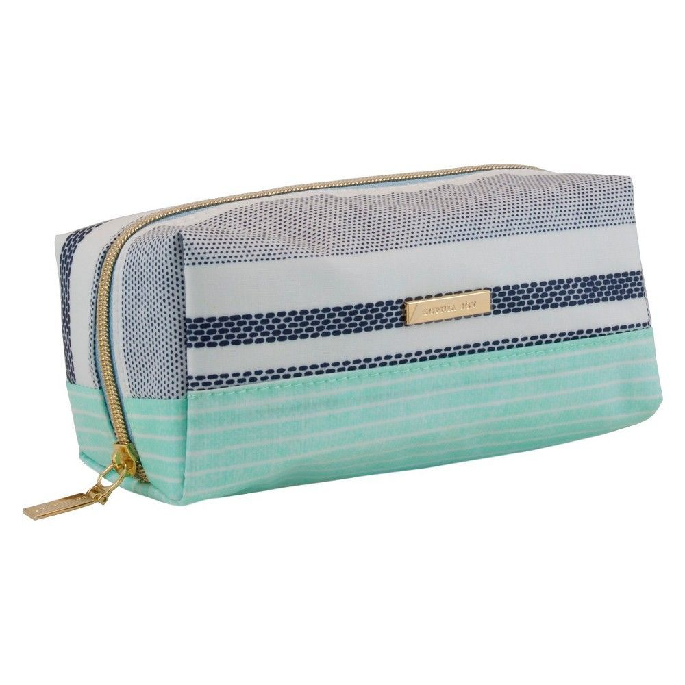Sophia Joy Striped Riviera Pencil Case Cosmetic Bag Products Cosmetic Bag Pencil Bags