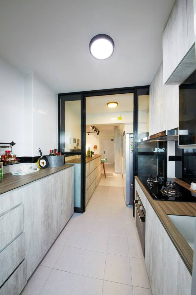 8 ways to do a semi open kitchen in your hdb separating the wet zone from the dry zone in a kitchen with a partition in the middle helps to keep t