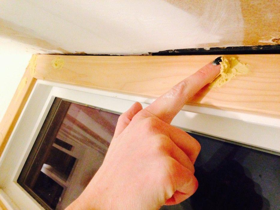 Applying Wood Putty To Ceiling Window Trim Window Trim Wood Putty Photo Album