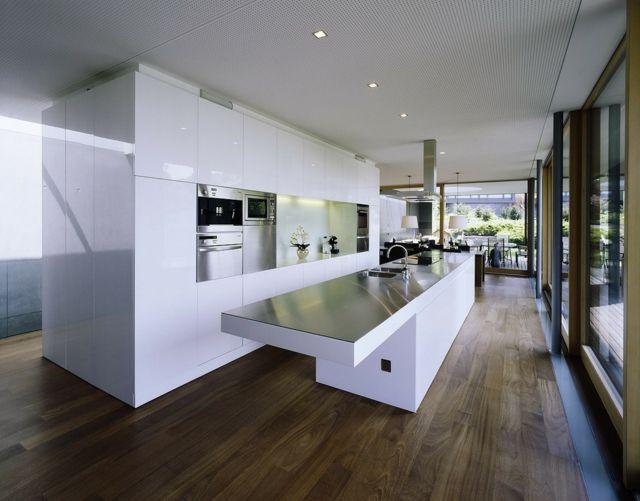 Integrierte Küchen Technik rechteckiger Tisch mit Glanz Oberfläche