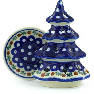 Polish Pottery Christmas Tree Candle Holder 7 Mosquito Christmas Tree Candle Holder Polish Pottery Pottery Candle Holder