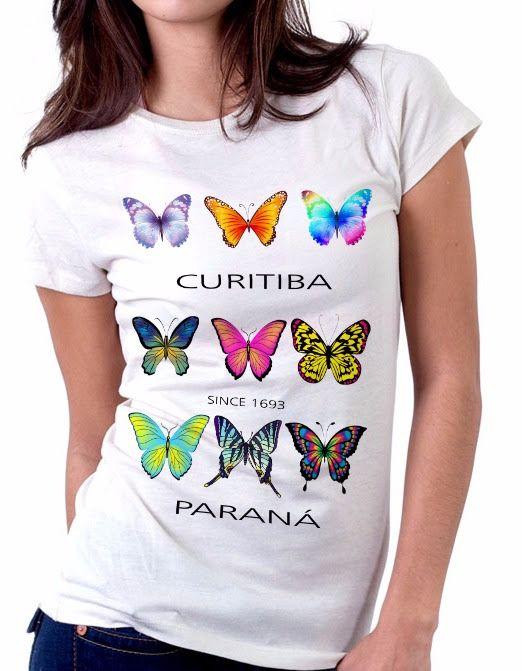 Camiseta feminina Curitiba d14b75b65cf