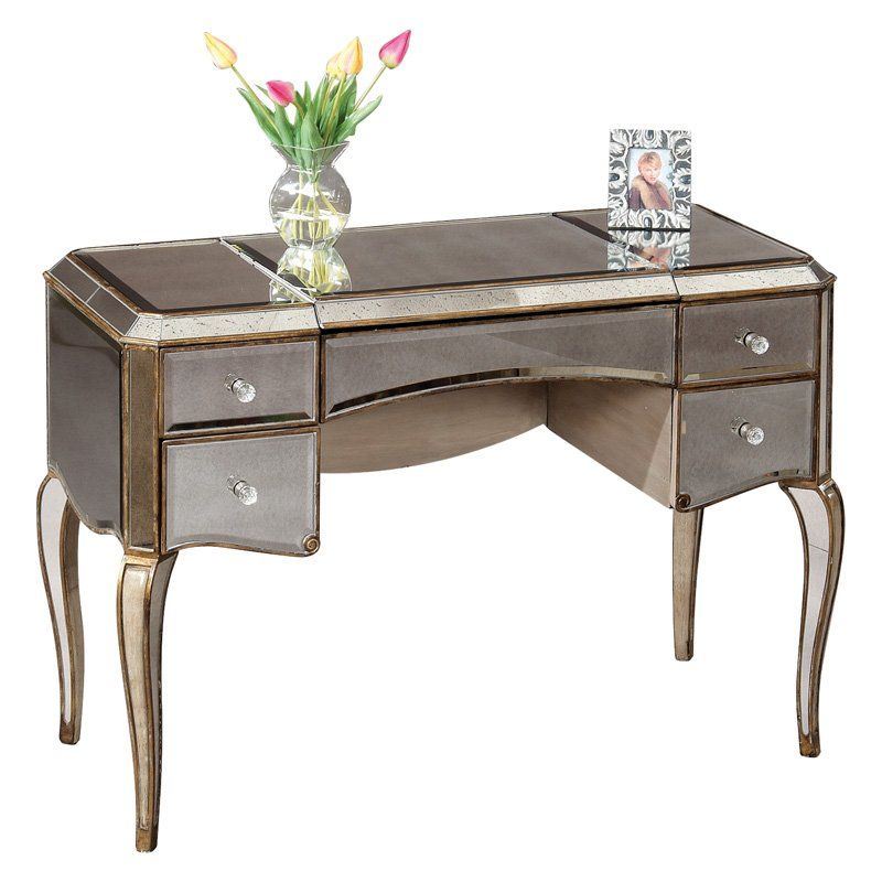 Have to have it Mirrored Bedroom Vanity Table $129999 Designing - Bedroom Vanity Table