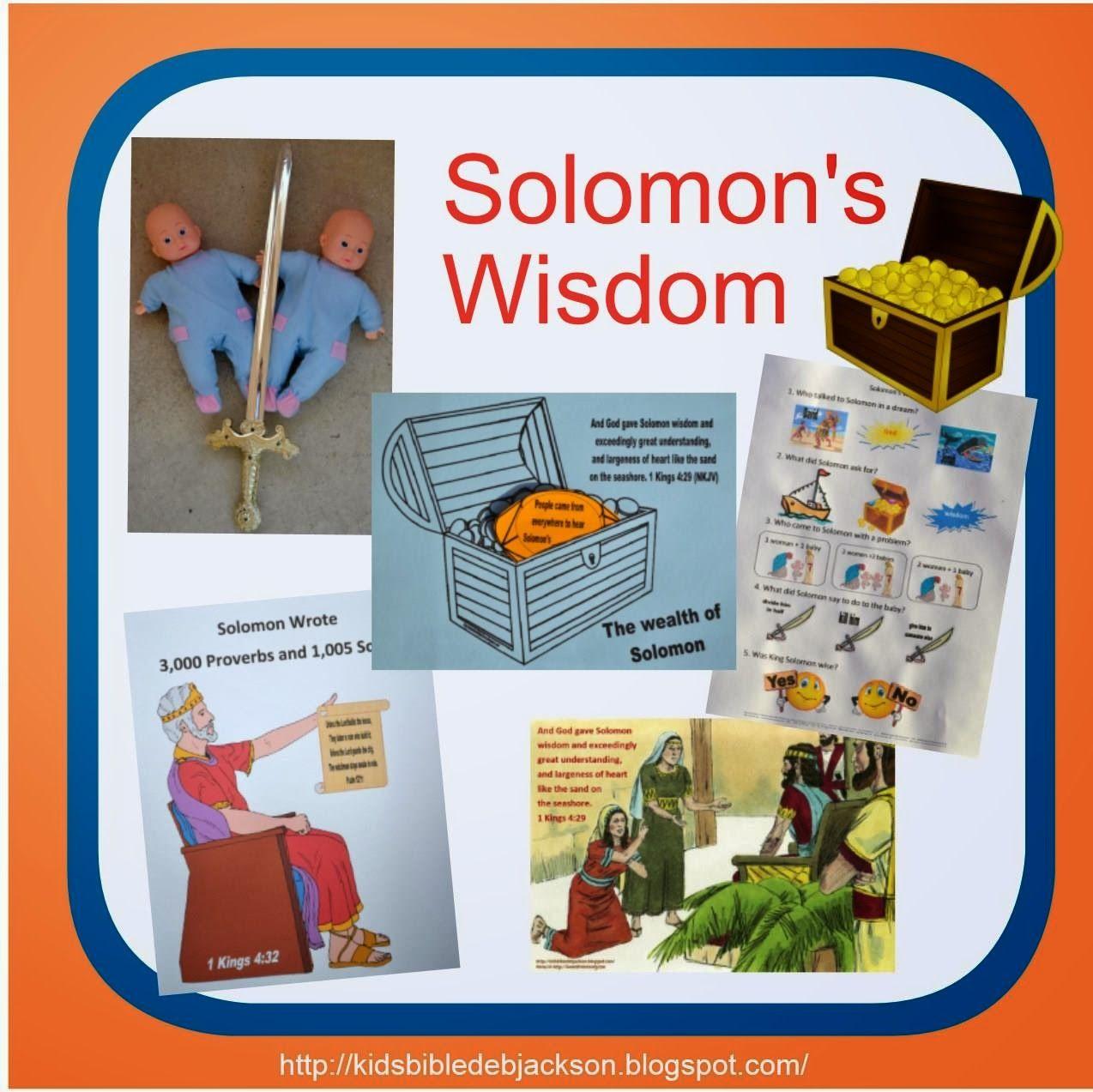 http kidsbibledebjackson blogspot com 2014 02 solomons wisdom