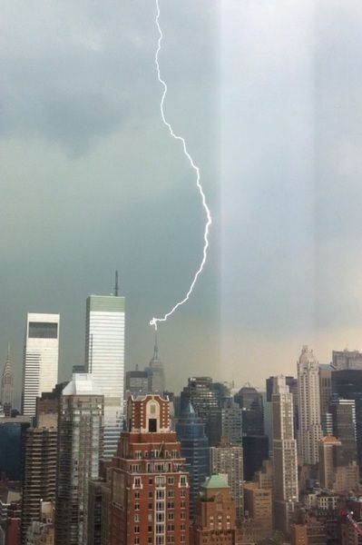 Touchdown! Vivid thunderstorm connects with the Empire State Building