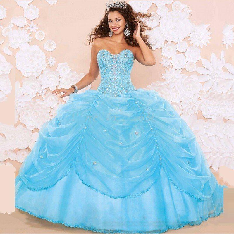 Light blue color dresses for 15