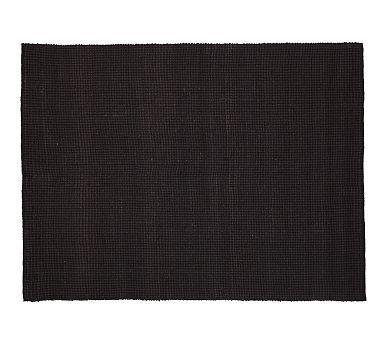 Mason Boucle Jute Rug - Black on sale for $199