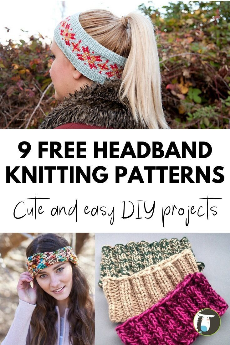9 Free Headband Knitting Patterns | Knit headband pattern ...