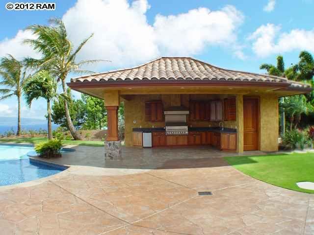 Outdoor kitchen Maui, Hawaii