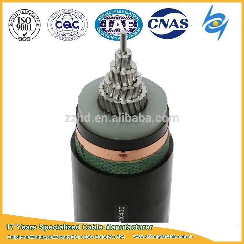 40 69kv Single Core Xlpe Insulated Pe Sheathed High Voltage Power Cables Power Cable High Voltage Insulated