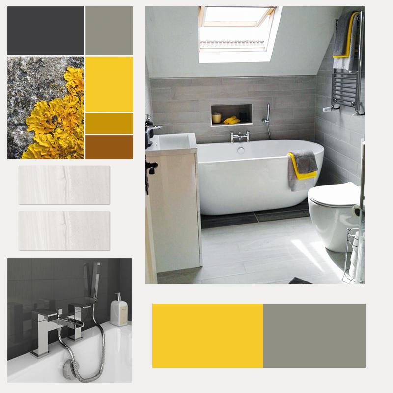 Beautiful Yellow Grey Bathroom Colour Scheme Bathroom Supplied By Bathshack Bathroom Color Schemes Yellow Grey Bathroom Bathroom Colors Gray