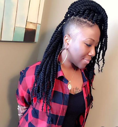 Braid Hairstyles For Black Women Shaved Side Hairstyles Braids With Shaved Sides Braids For Black Women