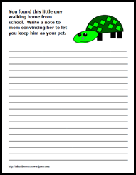 can i have a turtle writing prompt persuasive writing   writing prompt