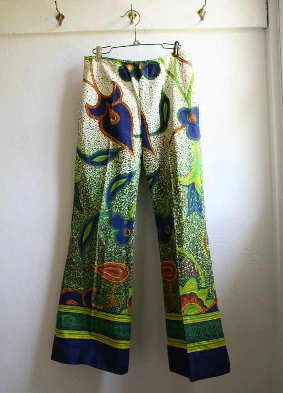 Rare Vintage 70s Wide Leg Pants Bell Bottoms by GoodTimeIsland, $55.00