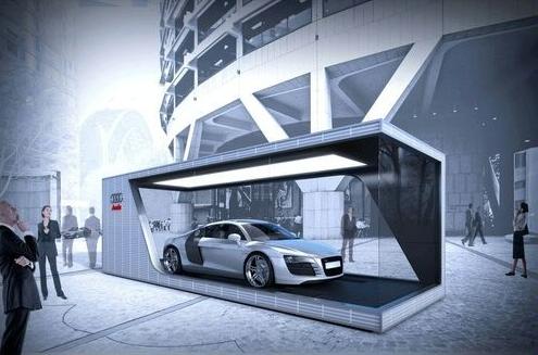 container car dealer Google 検索 Showroom interior