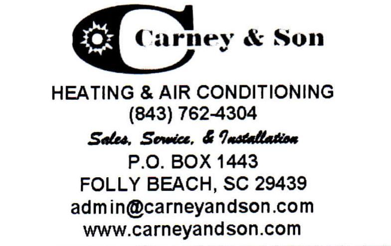 Carney & Son is a locally owned and family operated heating and air conditioning company who has been performing residential and light commercial service, sales and replacements in the West Ashley, SC area since 1984.