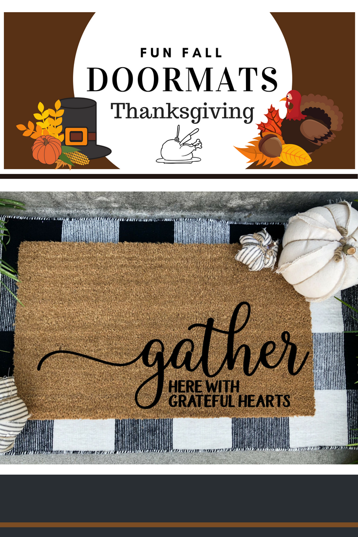Merveilleux Gather Here With Greatfull Hearts Doormat Fall Doormat Gather Doormat  Thanksgiving Doormat Farm Decor Doormat Rustic Doormat Porch Decor A Great  Addition To ...