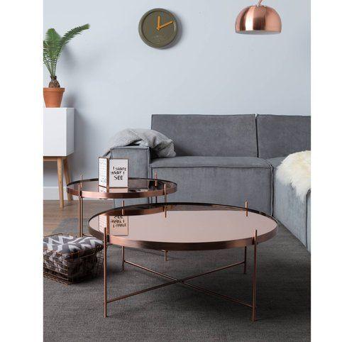 Table Basse Metal Plateau Miroir Cupid Xxl Zuiver 3suisses Table Basse Table Basse Ronde Et Table Basse Salon