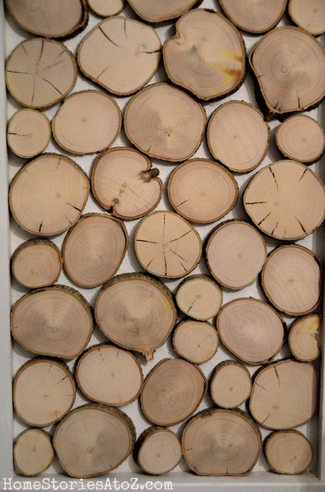 Christmas Mantel Wood Rounds Diy Plank Wall Wood