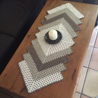 anleitung tischl ufer grannydecke basteln pinte. Black Bedroom Furniture Sets. Home Design Ideas