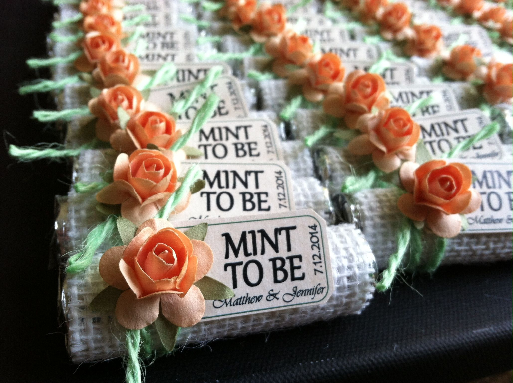 """mint To Be"" Wedding Favors. Do It Yourself (I Did), It's"