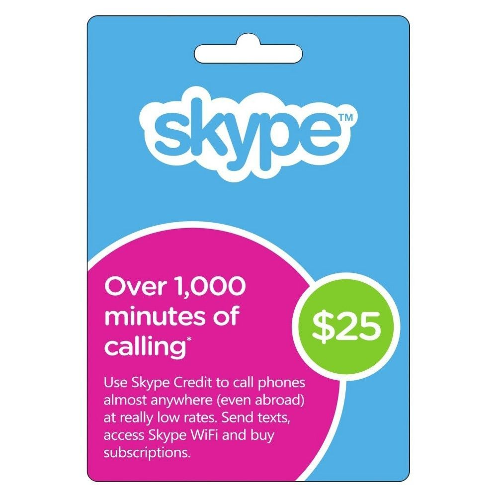 Skype credit of 25 for 22 instant delivery http