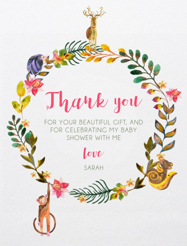 baby shower thank you card printables free
