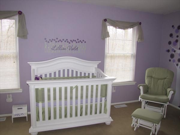 Purple And Green Nursery Ideas Home Design And Interior