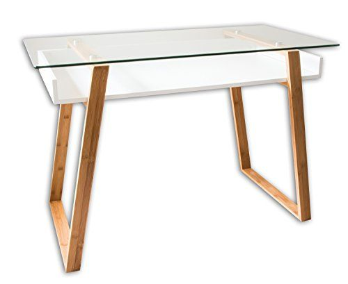 Bonvivo Writing Desk Massimo Contemporary Desk Combining Glass And Wood Modern Desk With Bamboo Legs And Modern Small Desk Contemporary Desk Modern Wood Desk