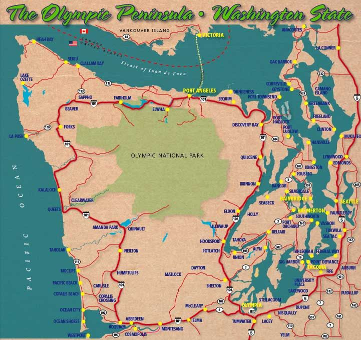 Wondering If We Should Go To Victoria It's A Quick Trip From Port: Map Of Olympic Peninsula Washington State At Codeve.org