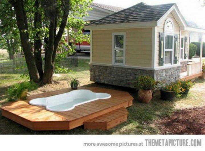 Ultimate Dog House | Ultimate Dog House! Pool included | Love Dogs | Pinterest
