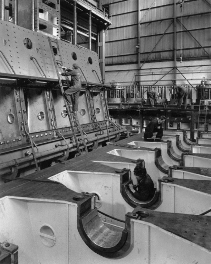 Work In Progress On Two Clark Sulzer Engines Marine Engineering