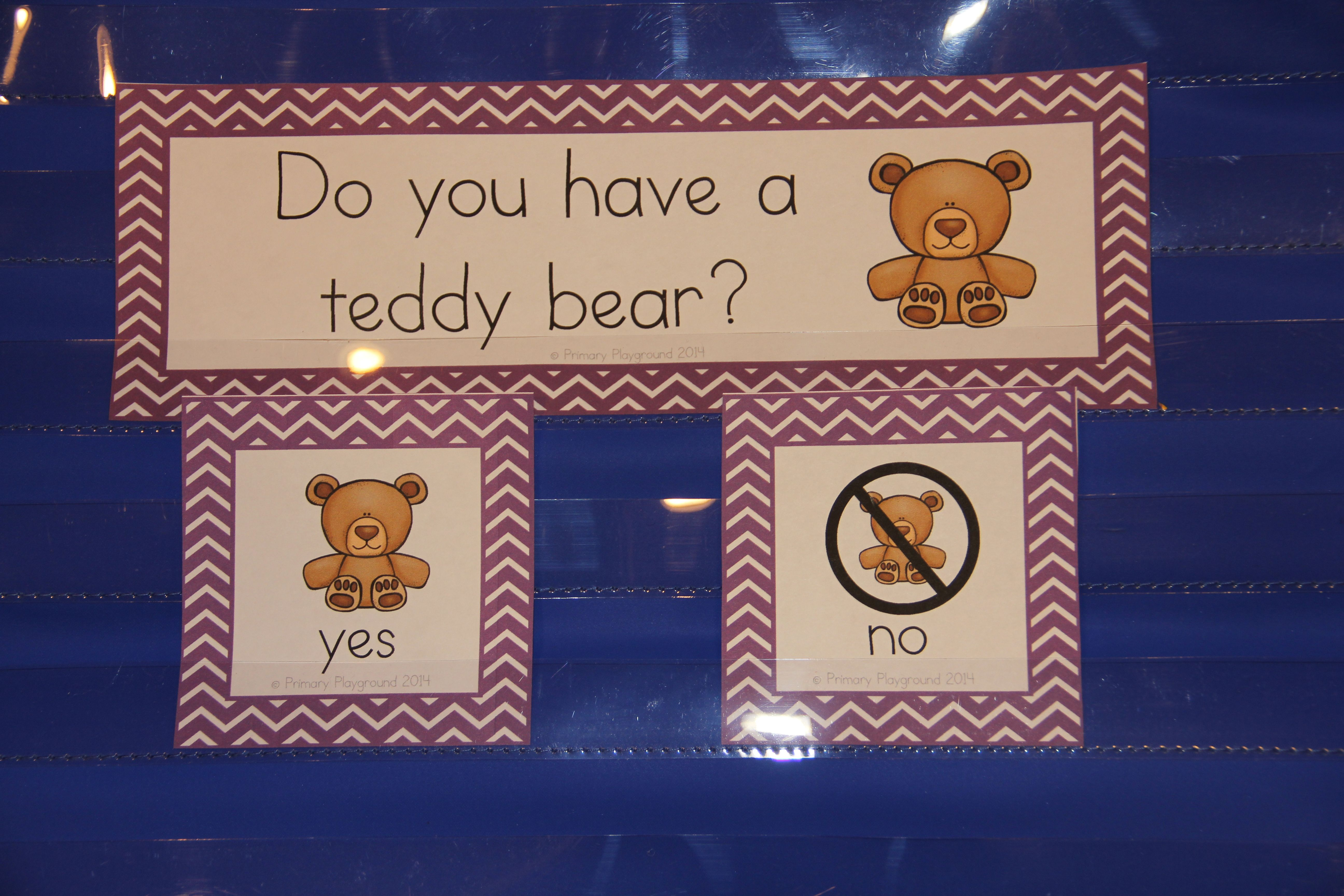 Question Of The Day For Beginning Readers Pocket Chart Cards
